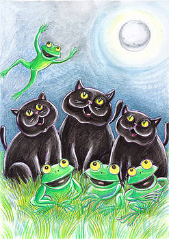 Loris Bagnara - Three Black Cats And A Frog