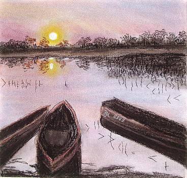 Three boats by Nina Mitkova