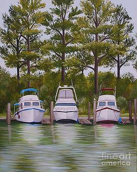 Three Boats by Valerie Carpenter