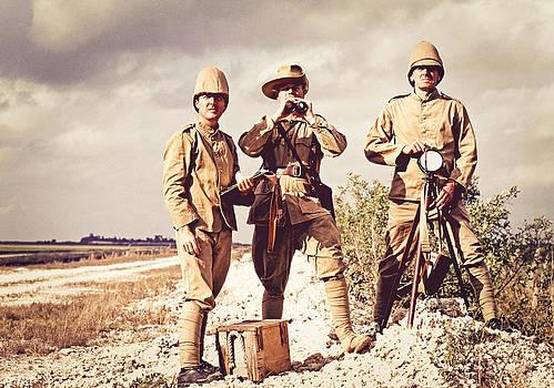 Stuart Brown - Three British Soldiers  # C