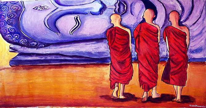 Three budhhist by Anand Karambe