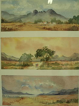 Three Cape Scapes by Marion Langton