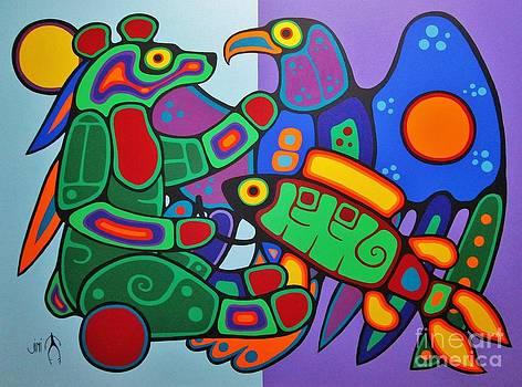 Three Clans Meet by Jim Oskineegish