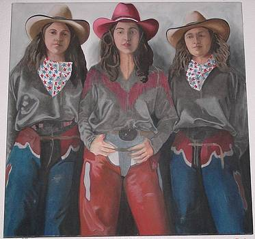 Three Cow Girls by Denis Gloudeman