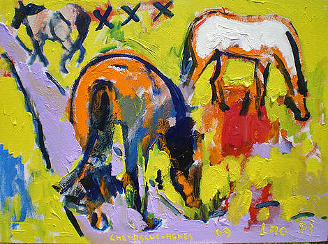 Three Free Horses by Chevassus-agnes Jean-pierre