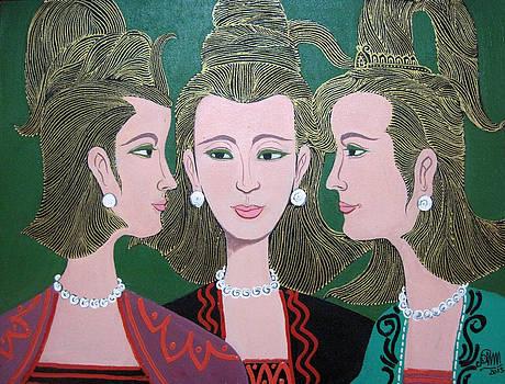 Three Friends by Aung Min Min