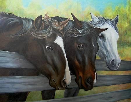Three Gentle Brown Eyes by Pamela Humbargar