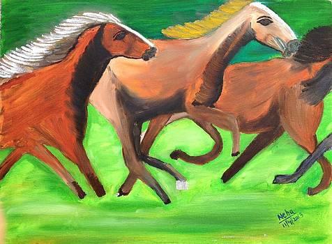 Three Horses by Neha  Shah
