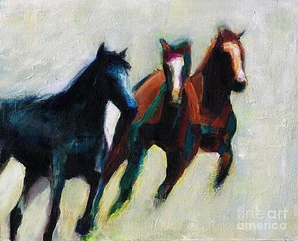 Three Horses on the Diagonal by Frances Marino