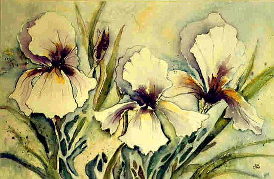 Three Iris by Norma Boeckler