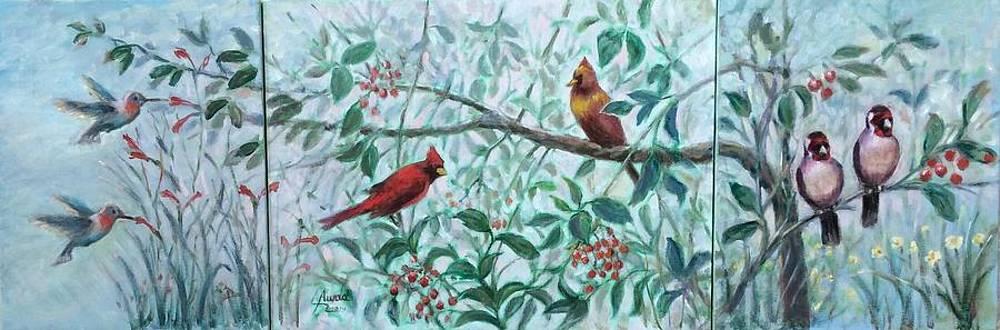 Three kind of birds by Laila Awad Jamaleldin