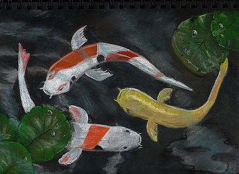 Three Koi by Dorothy Riley