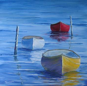 Three Little Boats at Rest. by Kathleen Tucker