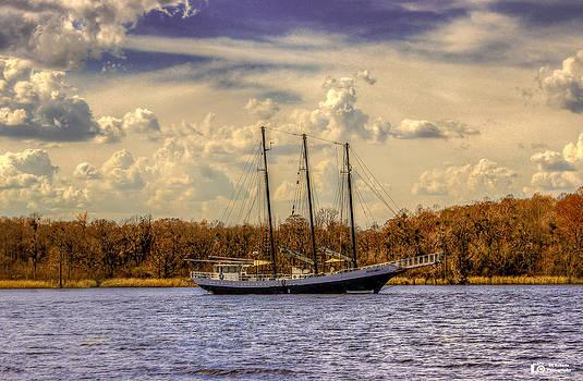 Three Masted Schooner by Ed Roberts