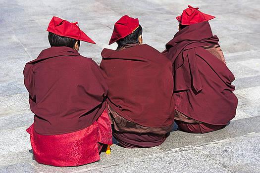 Three Monks by Hitendra SINKAR