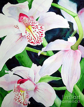 Three Orchids by Elizabeth  McRorie
