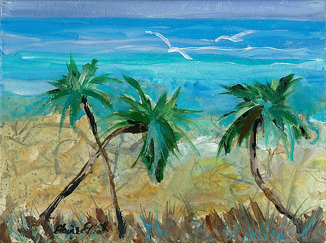Three Palms by Elaine Elliott