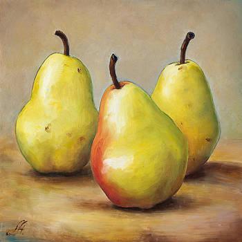 Three Pears by Anna Abramska