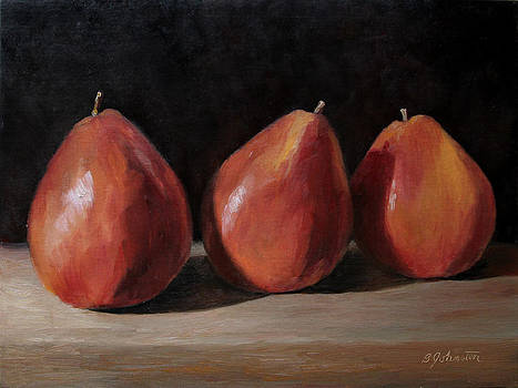 Three Red Pears by Beth Johnston