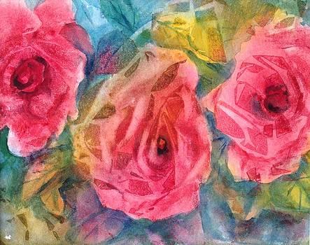 Three Rose Impression by Holly LaDue Ulrich