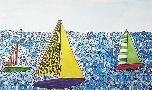 Three Sails by Marcia Weller-Wenbert