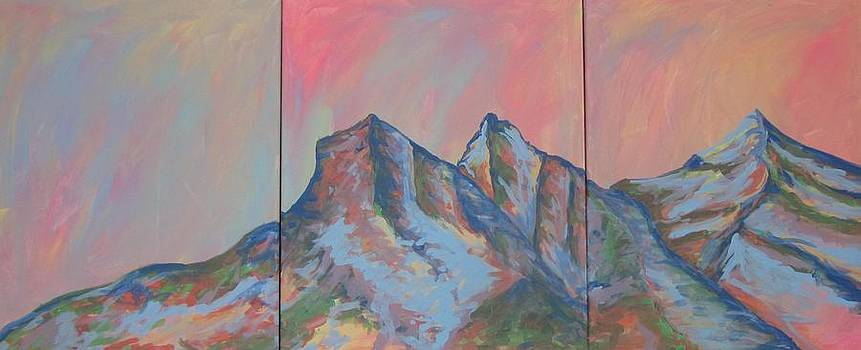 Three Sisters Mountians Alberta by Cherie Sexsmith
