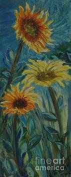 Three Sunflowers - Sold by Judith Espinoza