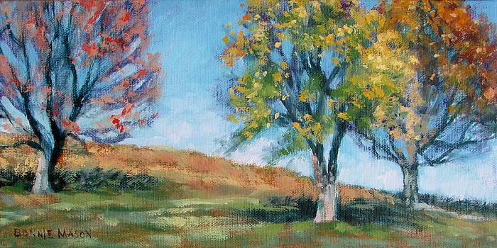 Three Trees on the Hill by Bonnie Mason