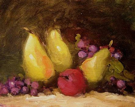 Three yellow pears by R W Goetting