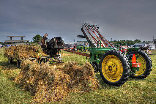 Threshing by David Simons