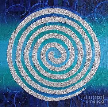 Throat Chakra Spiral by Marcella Nordbeck