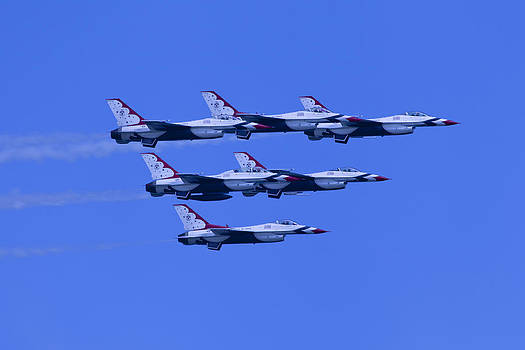 Thunderbirds Diamond Formation All 6 by Donna Corless
