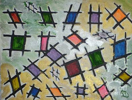 Tic Tac Toe in Technicolor by Marie Bulger