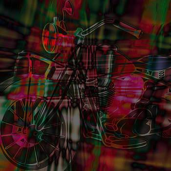 Ray Van Gundy - Tie Dye Motorcycle