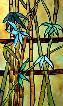 Donna Walsh - Stained Glass Tiffany Bamboo Panel