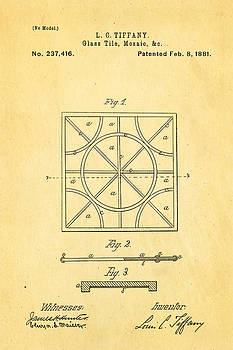 Ian Monk - Tiffany Glass Patent Art 1881