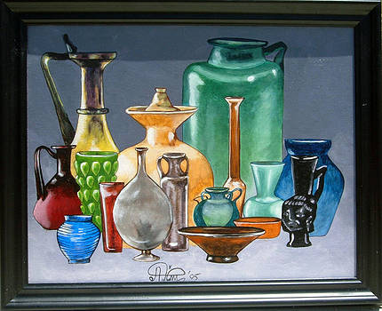 Tiffany Jars by Annette Jimerson