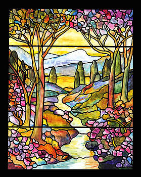 Donna Walsh - Tiffany Landscape Window