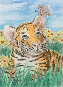 Jeanette K - Tiger and Butterfly