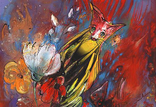 Miki De Goodaboom - Tiger Cat in Flower Paradise
