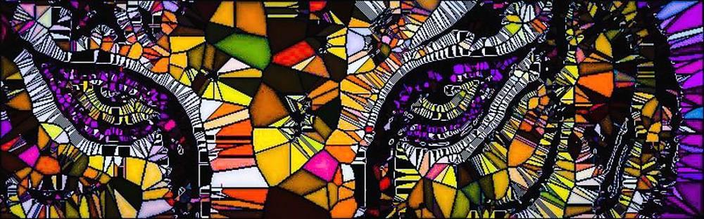 Tiger Eyes Mosaic by Lady Ex