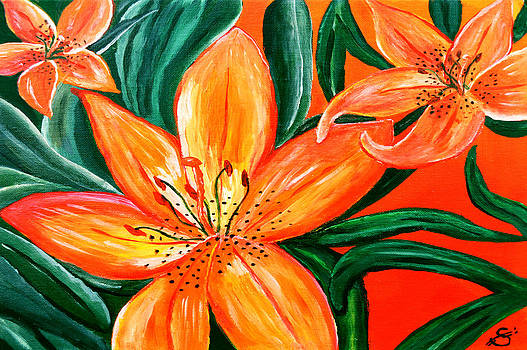 Tiger Lily Trio by Sherry Allen