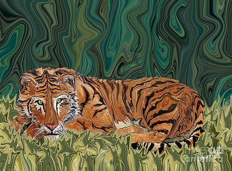 Tiger Sunday Serendipity by Sherin  Hylan