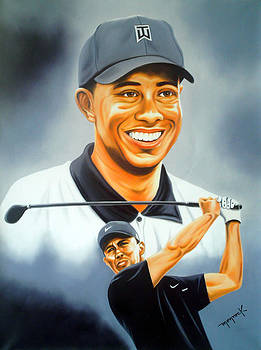 Tiger Woods by Hector Monroy by Hector Monroy