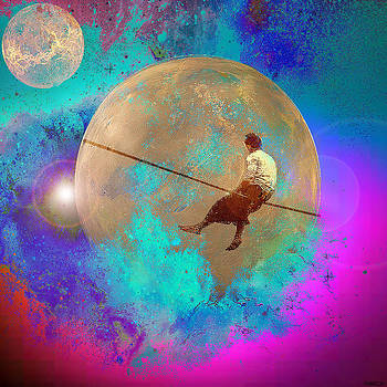 tightrope walker in Space by GANECH Graphics