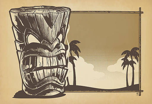 Tiki Sunset by O Foley
