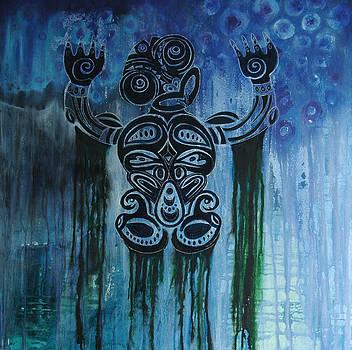 Tiki swim by Lisa Darlington
