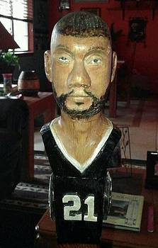 Tim Duncan front view by Michael Pasko