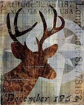 Time and Place Deer 1963 by Sharon Marcella Marston