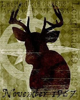Time and Place Deer 1967 by Sharon Marcella Marston